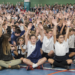 The entire school comes together for the mass for Mater